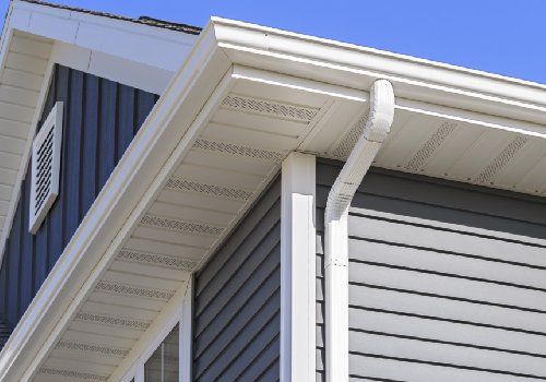 Soffit installed on the exterior of the house